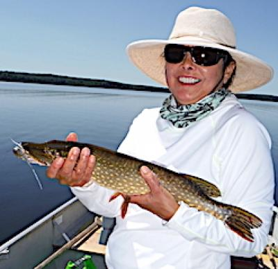 1st Time Fly Fishing Northern Pike 20+ in 1 Day at Fireside Lodge in Canada