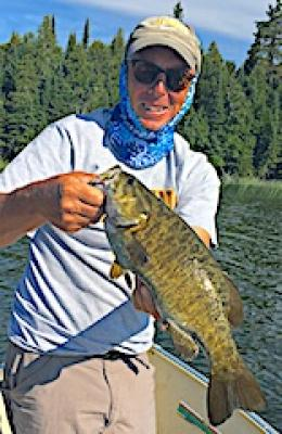 36 BIG Smallmouth Bass in 1 Day Fly Fishing at Fireside Lodge in Canada