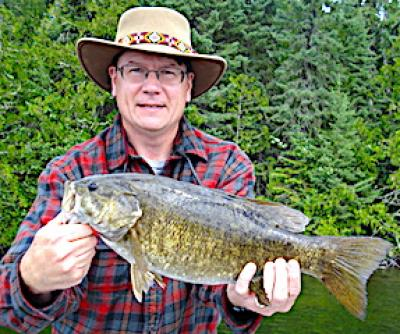 Behemoth Trophy Smallmouth Bass Fishing at Fireside Lodge in Canada