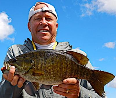 Big Bulging Trophy Smallmouth Bass Fishing at Fireside Lodge in Canada