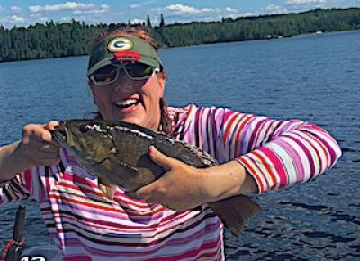 BIG Joyful Smallmouth Bass Fishing at Fireside Lodge in Canada