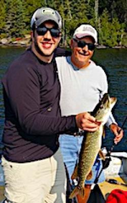 Father Son Bonding Northern Pike Fishing at Fireside Lodge in Canada