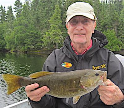 Hunting BIG Smallmouth Bass Fishing at Fireside Lodge in Canada