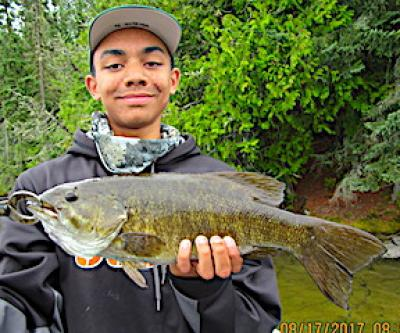 Titantic Trophy Smallmouth Bass Catch at Fireside Lodge in Canada