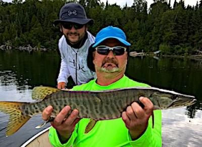 Father Sons Muskie Fishing at Fireside Lodge in Canada