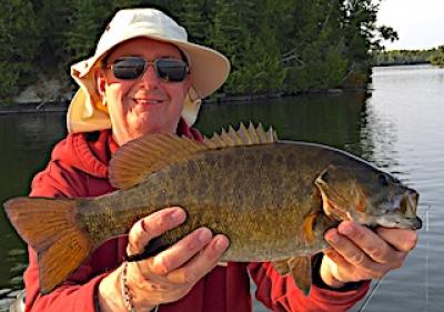 Sow Off BIG Smallmouth Bass Fishing at Fireside Lodge in Canada