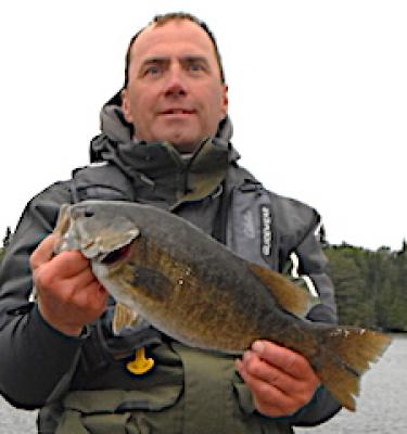 BIG Smallmouth Bass at Lunch Fishing at Fireside Lodge in Canada