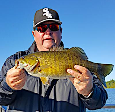 Fall Football Trophy Smallmouth Bass Fishing at Fireside Lodge in Canada