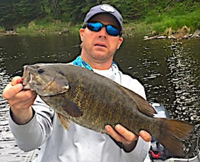Mega Trophy Smallmouth Bass Fishing at Fireside Lodge in Ontario Canada