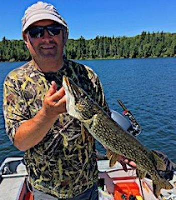 July Northern Pike Fishing at Fireside Lodge in Northwest Ontario Canada