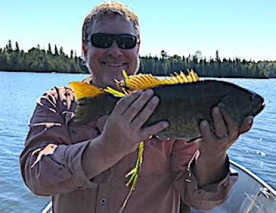 Trophy Smallmouth Bass in Fall Sunshine at Fireside Lodge in Ontario Canada