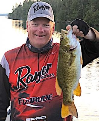 Tourney Size Smallmouth Bass Fishing at Fireside Lodge in Canada
