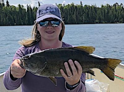Magic Touch Trophy Smallmouth Bass Fishing at Fireside Lodge Ontario Canada