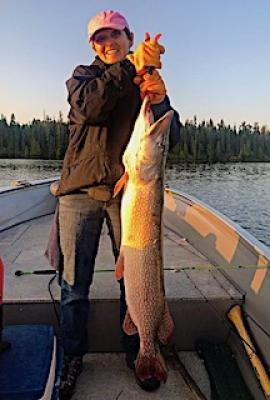 Monster 48-inch Trophy Northern Pike Fishing at Fireside Lodge in Ontario Canada
