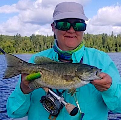 Fabulous Fly-Fishing BIG Smallmouth Bass at Fireside Lodge in Canada
