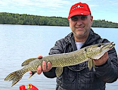 Fun Fishing Northern Pike with Friends at Fireside Lodge in Ontario Canada
