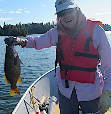 Very First Trophy Smallmouth Bass Fly Fishing in Ontario Canada