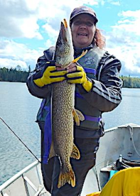 Super Fall Fsihing for BIG Northern Pike at Fireside Lodge in Canada