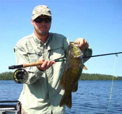 trophy smallmouth  fly fishing lodges