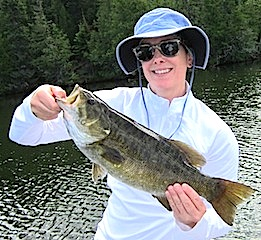 Trophy Smallmouth Bass Fishing at Fireside Lodge Canada by Jen Born
