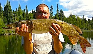 BIG Northern Pike Fishing Canada by Bob Lauffer