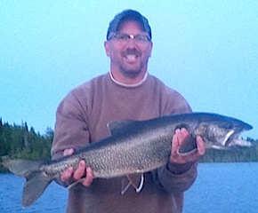Lake Trout caught Fishing at Fireside Lodge by Michael Chytka