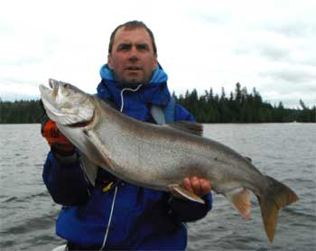 Monster Trophy Lake Trout Fishing Lodge in Canada