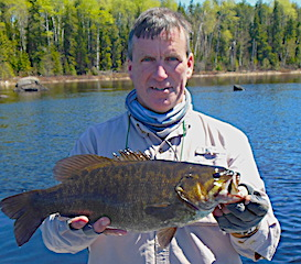 Giant Trophy Smallmouth Bass by Frank Hazzard