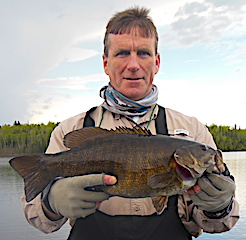 Super Fishing for Trophy Smallmouth Bass by Frank at Fireside Lodge in Canada