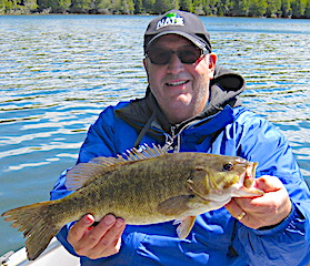Big Beautiful Smallmouth Bass Fishing by Sandor at Fireside Lodge in Canada