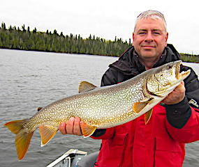 Common Lake Trout Fishing at Fireside Lodge by Greg