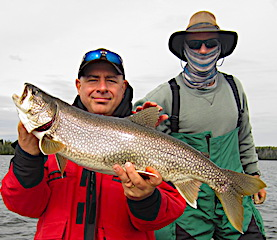Big Lake Trout by Greg Fishing with Frank at Fireside Lodge