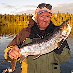 Nice Lake Trout Fishing by Don at Fireside Lodge in Canada
