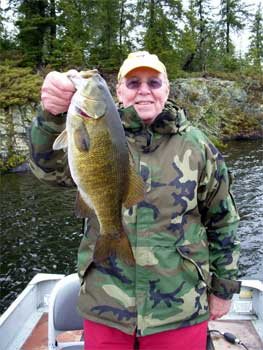 fishing resort with big smallmouth bass