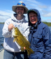 Trophy Canadian Smallmouth Fishing by Trent Elmer with Grandpa Pete