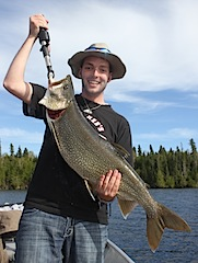 Monster Trophy Lake Trout Fishing Canada by Trent Elmer