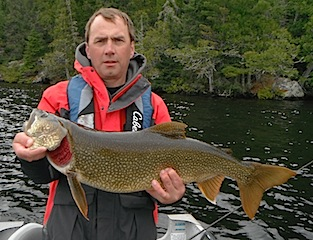Giant Trophy Lake caught Fishing at Fireside Lodge Trout by Tim Stewart