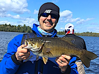 Trophy Smallmouth Bass Fishing is Incredible at Fireside Lodge by Nick