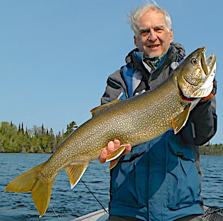 Absolute GIANT Lake Trout Fishing in Northwest Ontario Canada by Bryan