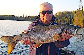 1st BIG Lake Trout Fishing by Resit at Fireside Lodge in Canada