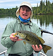 Matt With His Favorite Smallmouth Bass Fishing in Canada