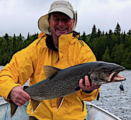 Lake Trout Fishing Smile Tells the Story by Matt in Canada