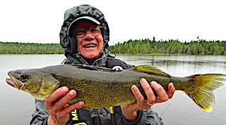 Super Walleye Fishing and Picture by Paul at Fireside Lodge in Canada