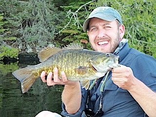 First Trophy Smallmouth Bass Fishing at Fireside Lodge Canada