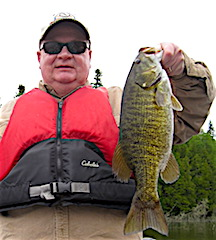 Large 19 inch Trophy Smallmouth Bass by Tim Bergen