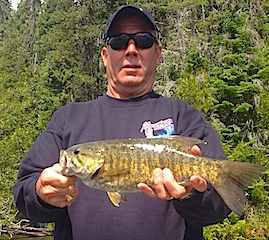 GREAT Smallmouth Bass Fishing at Fireside Lodge by Jan