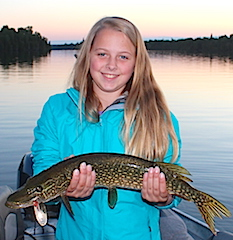Katie Nortehrn Pike Fishing with Family at Fireside Lodge