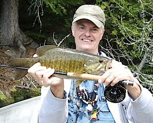 Fly-Fishing for Big Smallmouth Bass at Fireside Lodge Canada