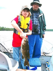Trophy 20-icnh Smallmouth Bass by 12-year old Fishing at Fireside Lodge Canada