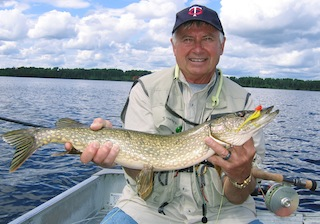 Fly-Fishing for Northern Pike is Great at Fireside Lodge Canada